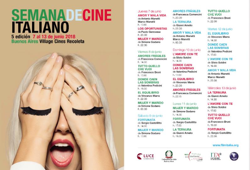 Grilla Semana de Cine Italiano 2018